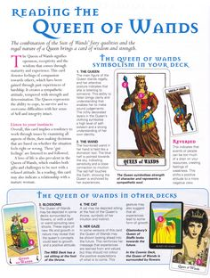 The queen of wands - check site for other cards meaning ...