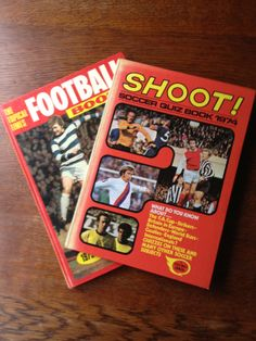 2 Vintage 1970's Football/Soccer Books by PickleKids on Etsy, £3.95