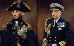 ADMIRAL LORD NELSON  Famous faces from history been given a modern makeover to see how they would look if they were alive today.The project, commissioned by history TV channel Yesterday, saw digital artists working closely with history experts to ensure the a sense of authenticity.