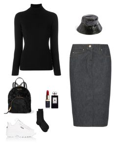 """Untitled #49"" by peterpan130395 ❤ liked on Polyvore featuring La Fileria, MaxMara, Topshop, Miu Miu, Clé de Peau Beauté, Fila, Falke and Jo Malone"