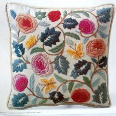 Pastel Colonial Crewel Pillow Kit Vintage 1977 Columbia Minerva #ColumbiaMinerva