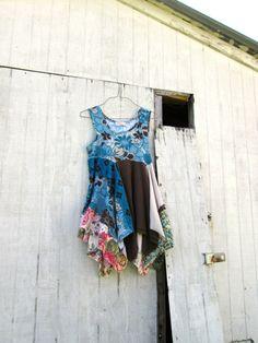 funky Spring / Summer lagenlook boho tunic / dress / by CreoleSha, $95.00