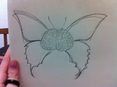 Cérebro + borboleta