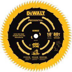DEWALT Precision Trim 10-in 80-Tooth Standard Carbide Circular Saw Blade
