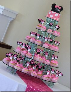 Minnie Mouse Zebra Cake 8 tiers
