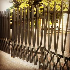 Fence Parc Diagonal Mar. Enric Miralles Photo by ohrizons
