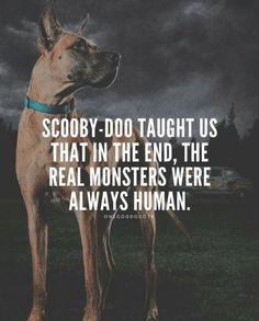 Same as we stopped looking for monsters under our bed cause we...