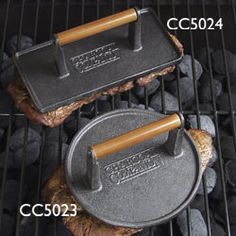 The Barbecue Store - Charcoal Companion - Cast Iron Rectangular Grill Presses