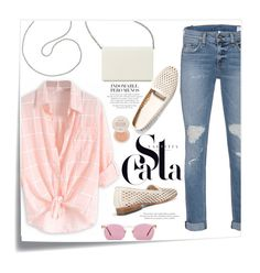 """""""Casual Outfit"""" by christinacastro830 ❤ liked on Polyvore featuring Post-It, Nine West, Dieppa Restrepo, rag & bone, Oliver Peoples and Fresh"""