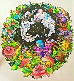 Escape to Wonderland, Derwent Watercolour + Faber Castell Albrecht Dürer + Koh-i-noor Mondeluz #escapetowonderland #escapetowonderlandcolouringbook #goodwivesandwarriors #coloringbook #colouringbook #aliceinwonderland #alice #coloringforadults #podróżdokrainyczarów #alicjawkrainieczarów #kolorowaniedladorosłych #derwentwatercolour #derwent #fabercastell #albrechtdürer #albrechtdurer #mondeluz #kolorowamafia