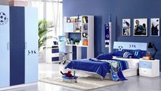 Blue Nuance for Bedroom Design with Festive Chelsea Accessories and Ornaments