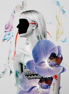 Ernesto Artillo artista #collage fiori nudi   Lancia Trendvisions
