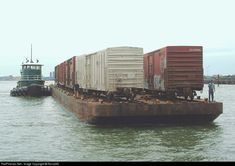 New York Cross Harbor Railroad Car Float at Jersey City, New Jersey by RonaldD -NYCH 21, on the carfloat, heads over from Greenville to Brooklyn . RailPictures.Net Photo: