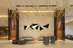art piece for the lobby at hotel HILTON santa fe 2014 #contemporary #interior #design #art #steel #brass #decor #hotel #lobby #tallertornel