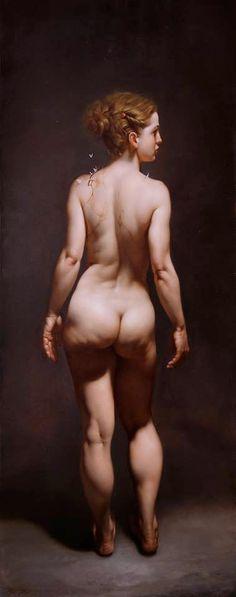 Roberto Ferri - 004 PSICHE olio su tela 150x60cm anno 2015