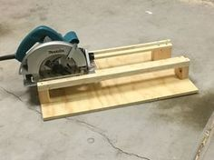 "I built a simple crosscutting jig for use with a circular saw. It's easy to build, and consists of just one 2' by 2' by 1/2"" piece of plywood and a small par..."