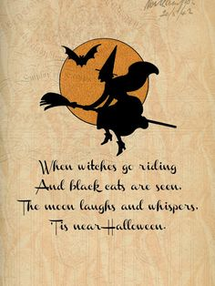 Halloween Printable. When witches go riding...