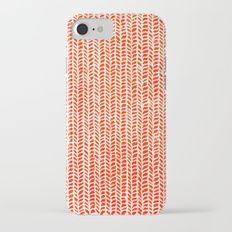 Stockinette Orange iPhone 7 Slim Case