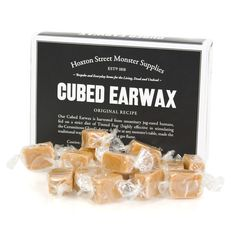 Cubed Earwax. Actually it is clotted cream. Not sure which sounds worse.