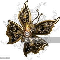 Butterfly Steampunk Vector Art | Getty Images