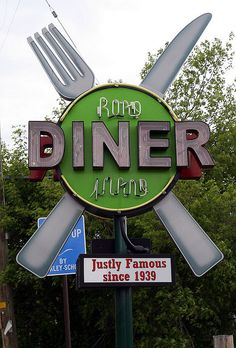 Road Island Diner sign -- Oakley, Utah via flickr
