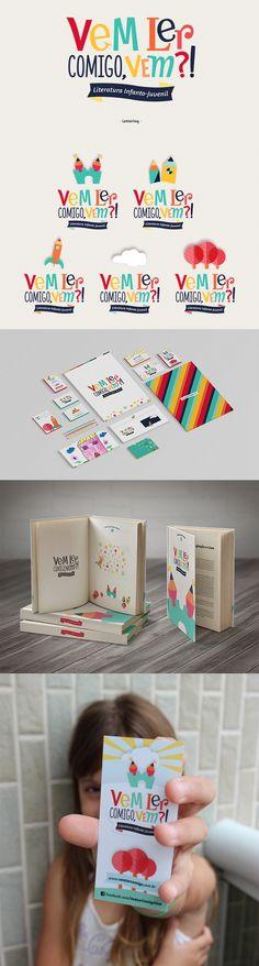 2. Um trabalho de identidade visual criativo e bem lírico, totalmente adequado para um blog sobre livros para crianças. #IdentidadeVisual #Logo #Propaganda #Branding #Creative #TudoMarketing #TudoMkt