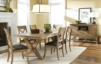 Perfect for casual dinners or celebrations with friends, the Barrington Dining Collection's khaki finish is easy to decorate around and the table size easily adjusts to fit your party.