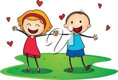 little kids in love