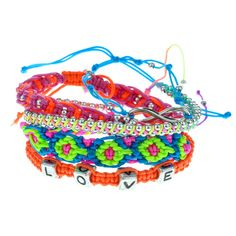 5 Pack Brights claires accessories Bracelets