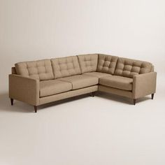 One of my favorite discoveries at WorldMarket.com: Chunky Woven Ryker Left-Facing Upholstered Sectional