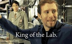 Hodgins is always King of the Lab! :D Bones