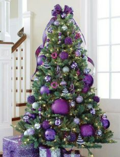 Purple Christmas tree A couple of trees with purple ornaments (yay for Christmas)