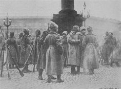 First World War: A rare print of female soldiers of the all women Battalion of Death that fought on the side of the White Russians against the Bolsheviks during the civil war that followed the October revolution.