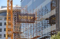 Bomax Architects - Banner Up On the Scaffolding Cape Town. Scaffolding, Cape Town, Utility Pole, Architects, Banner, Gallery, Pictures, Banner Stands, Photos
