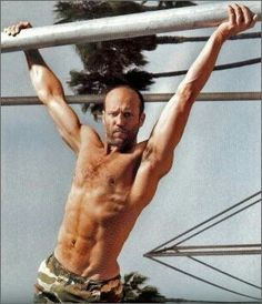 the hot, british actor Jason Statham, proving you can be hairy and balding and still look great with a fit body Michelle Rodriguez, Vin Diesel, Dwayne Johnson, Paul Walker, Eva Mendes, Gym Workouts For Men, Workout Pictures, Hommes Sexy, Gorgeous Men