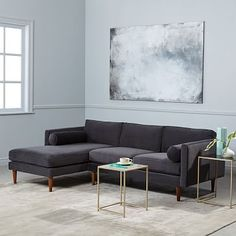 Monroe Mid-Century 2-Piece Chaise Sectional #westelm