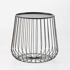 """Beistelltisch """"Cage"""", Metalldraht AM.PM.  Masse: 42,5 cm, H. 40 cm. für 54 EUR"""