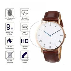 Tempered Glass Protective Film Guard For Daniel Wellington DW Watch Screen Protector Cover Diameter Dw Watch, Smart Watch, Screen Guard, Oil Water, Wet Wipe, Easy Install, Glass Screen Protector, Daniel Wellington, Smudging
