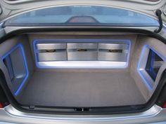 Audio trunk room...