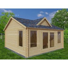 Garden Sheds Kilkenny dublin one bed studio log cabin 5m x 5m - log cabins for sale in