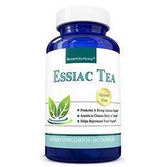 Essiac Tea 900mg 180 Capsules Based on Organic Original 8 Herb Essiac  by BoostCeuticals * BEST VALUE BUY on Amazon