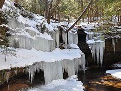 Winter in the Hocking Hills.