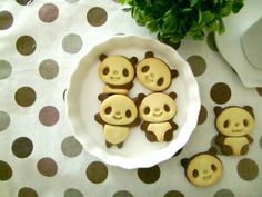 How to Make Panda Cookies Cookie Cutter Set, Set Cookie, Cute Cookies, Panda, Chocolate, Cooking, Breakfast, Desserts, Schokolade