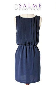 Sleeveless dress PDF pattern