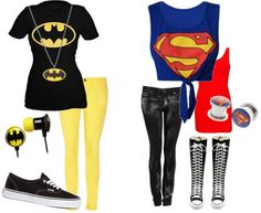 Batman and Superman Superman Stuff, Batman And Superman, Besties, Bff, Hot Outfits, Classy, Polyvore, Quotes, Hair