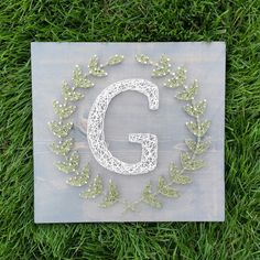 Check out this item in my Etsy shop https://www.etsy.com/listing/238976892/made-to-order-string-art-sign-monogram