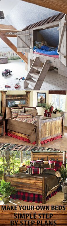 Make Your Own Wood Beds. With Teds Simple Easy Step by Step Plans.