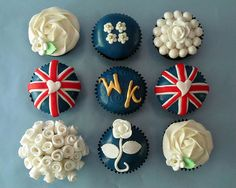 royal wedding cupcakes!