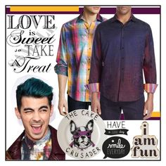 """""""Mad for Plaid Shirt"""" by yours-styling-best-friend ❤ liked on Polyvore featuring Reception, Robert Graham, ban.do, Jimbobart, men's fashion and menswear"""
