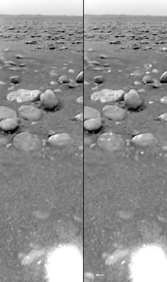 This is the first-ever photo of liquid outside of earth (on Saturn's moon, Titan).